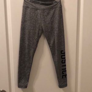 Girls Justice size 7 gray leggings